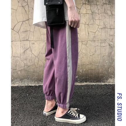 @方少男装港风夏季运动韩版休闲裤