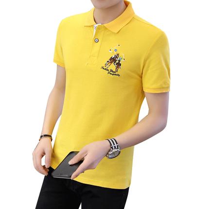 2019夏季新款男士短袖衬衫领polo衫
