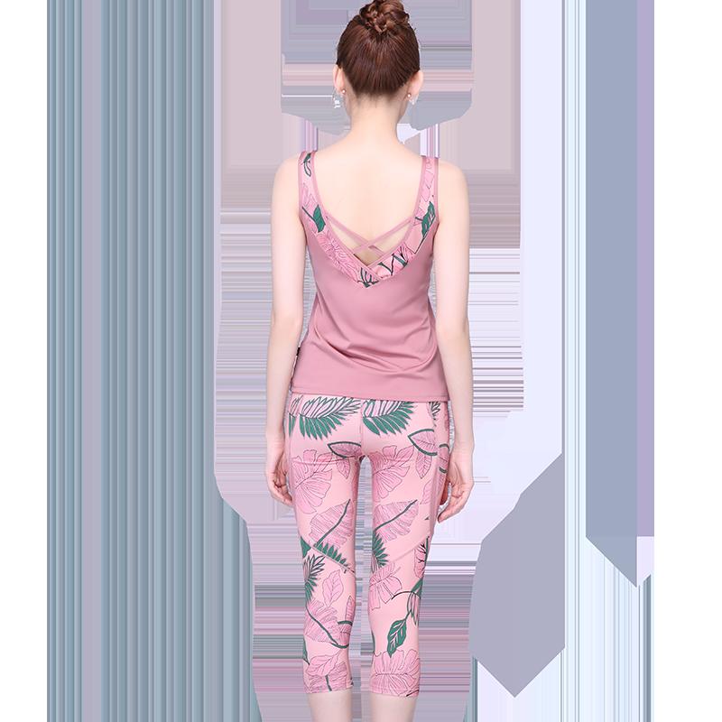 沙洛尔瑜伽服女春夏款运动跑步时尚短袖专业定制瑜伽服健身套装女