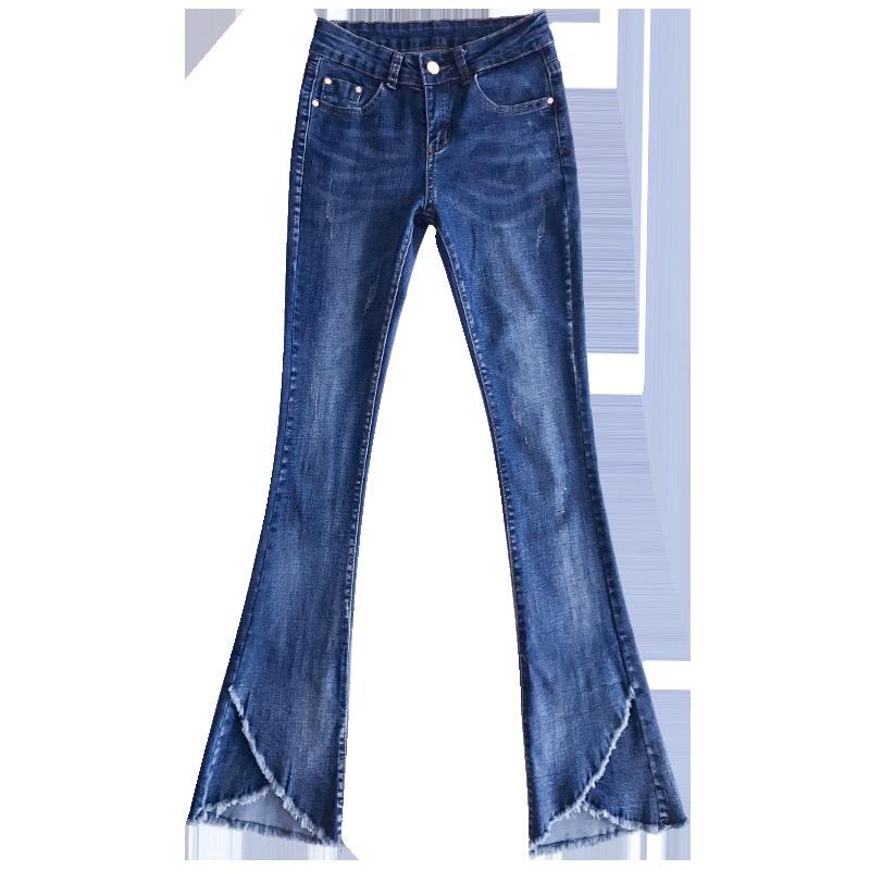 【买二送一】加绒新款高腰九分阔腿牛仔裤