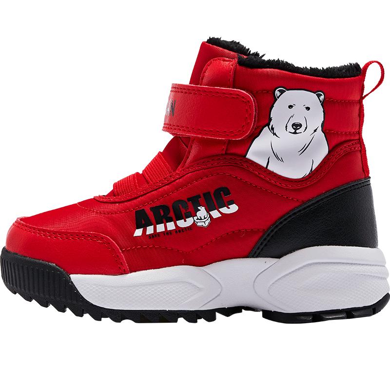 商场同款乔丹冬季男童雪地靴反季清仓棉鞋保暖防滑儿童鞋子加绒
