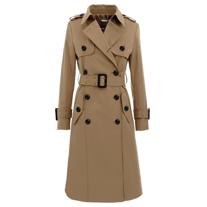 中长款英伦风衣女2020流行春秋新款收腰显瘦时尚翻领经典卡其外套