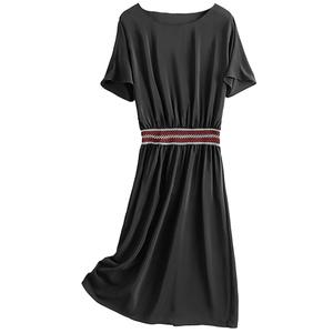 杭州连衣裙2021新款夏季时尚黑裙子