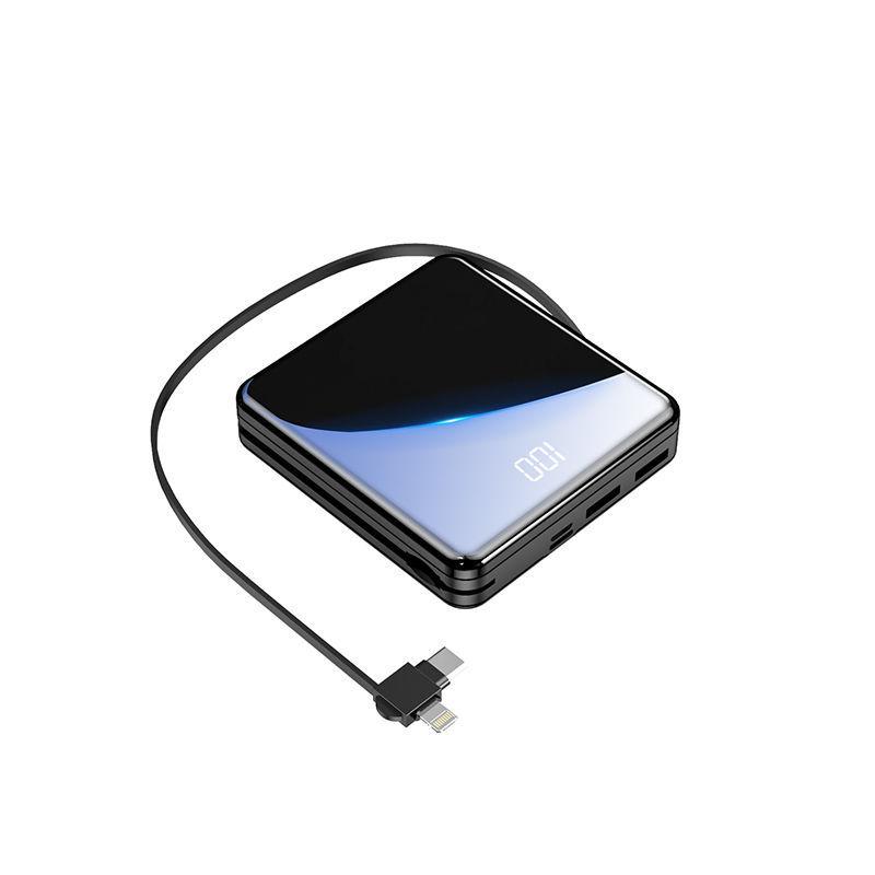 【快充3线】便携迷你充电宝2万毫安