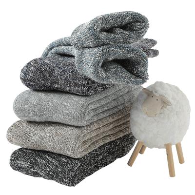 羊毛袜男袜子男冬加厚保暖袜加绒超厚抗寒羊绒棉袜中长筒袜毛巾袜