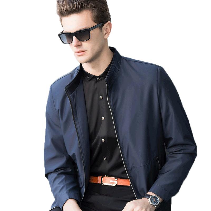 勋伯格2019秋季新款男士夹克时尚休闲男士外套上衣棒球服爸爸装
