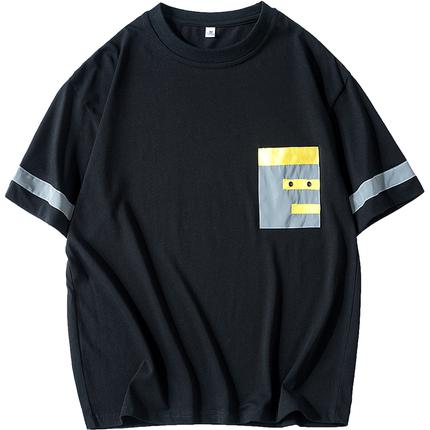 夏季短袖t恤男士七分袖圆领卫衣