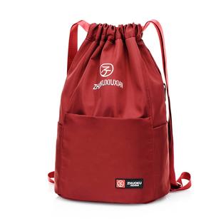 2019新款牛津布抽绳束口袋双肩包女轻便尼龙布运动旅行大容量背包