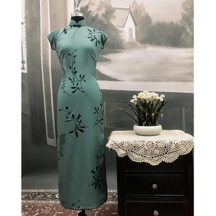 色戒湯唯同款長款中國風旗袍民國復古老上海連衣裙女印花雪紡明星