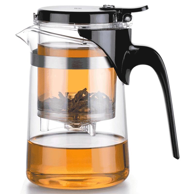 尚明家用全玻璃内胆飘逸杯茶水分离泡茶壶神器简易一键过滤茶具