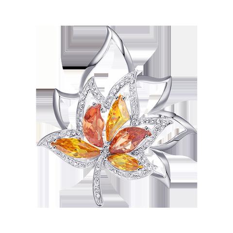 采用施华洛世奇元素枫叶胸针女复古创意优雅胸花外套时尚百搭配饰