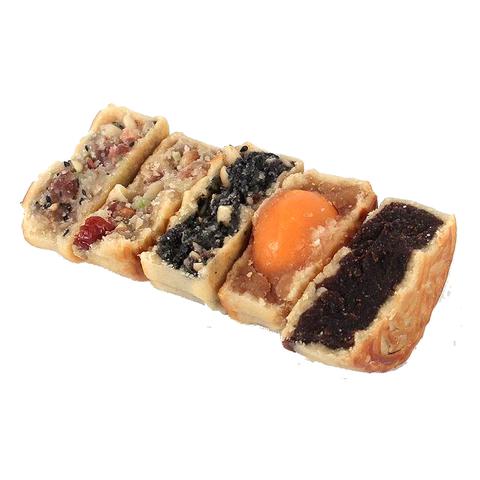 中秋广式月饼五仁莲蓉蛋黄豆沙红枣花生黑芝麻多口味传统散装10个