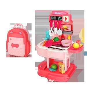 儿童过家家厨房玩具男女孩7小公主化妆品梳妆台套装5生日礼物3岁6