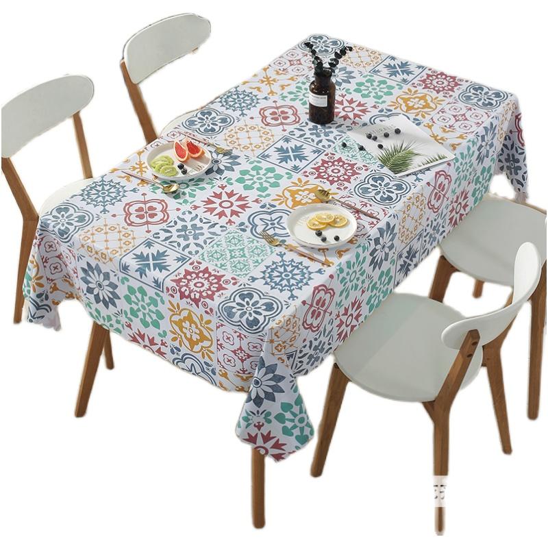 餐桌布防水防油免洗PVC台布长方形桌布北欧ins高档茶几布艺书桌垫