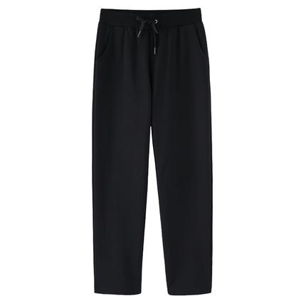 大码胖mm九分直筒裤垂感宽松休闲裤