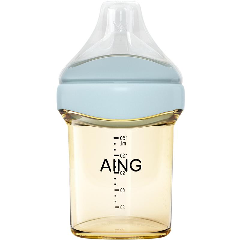 aing爱音奶瓶新生婴儿ppsu奶瓶耐摔宽口径防胀气宝戒奶断奶仿母乳