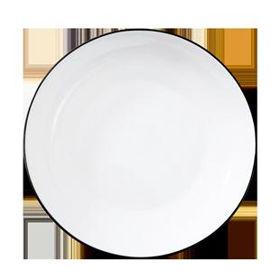 六個裝盤子陶瓷菜盤創意家用餐具簡約日式菜碟圓形碟子早餐盤魚盤