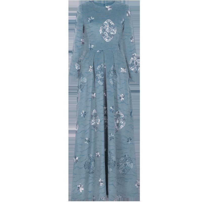 羊绒连衣裙怎么穿搭:羊绒连衣裙长款
