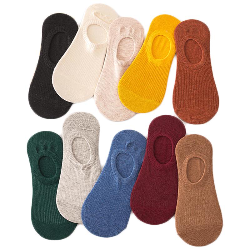 【5双】纯棉袜子女防臭透气浅口船袜