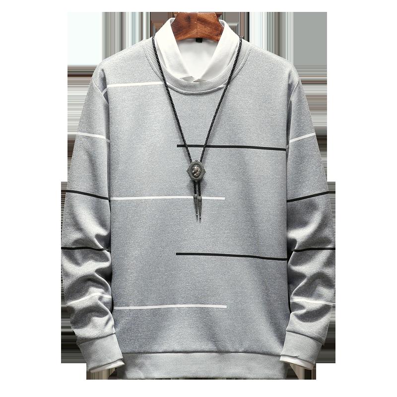 爵森马伯特男士T恤新款潮秋衣男装打底衫韩版帅气上衣服长袖卫衣