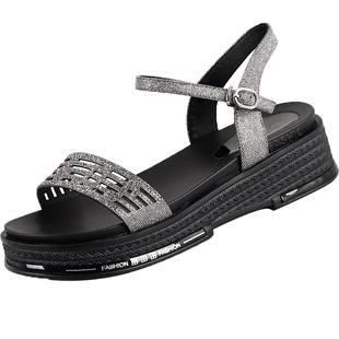 淑中美大碼女鞋41一43涼鞋女夏季時尚百搭胖腳寬肥加大號女鞋4042