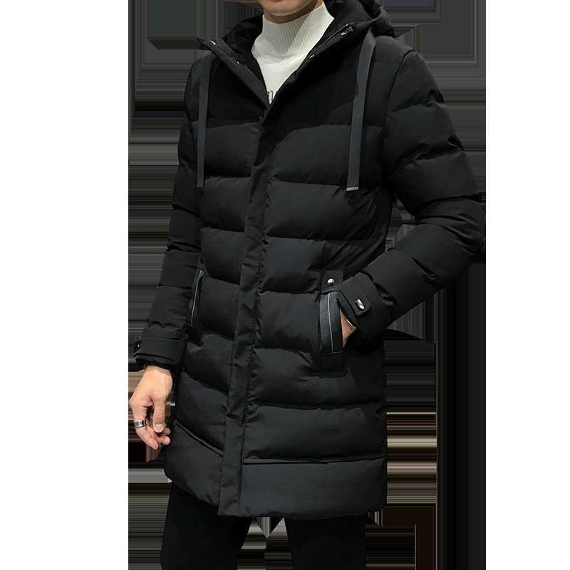 棉衣男中长款2019新款韩版冬季外套男装潮流棉袄加厚新款羽绒棉服