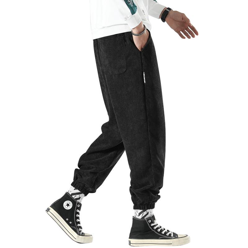 灯芯绒裤子休闲小脚裤长裤