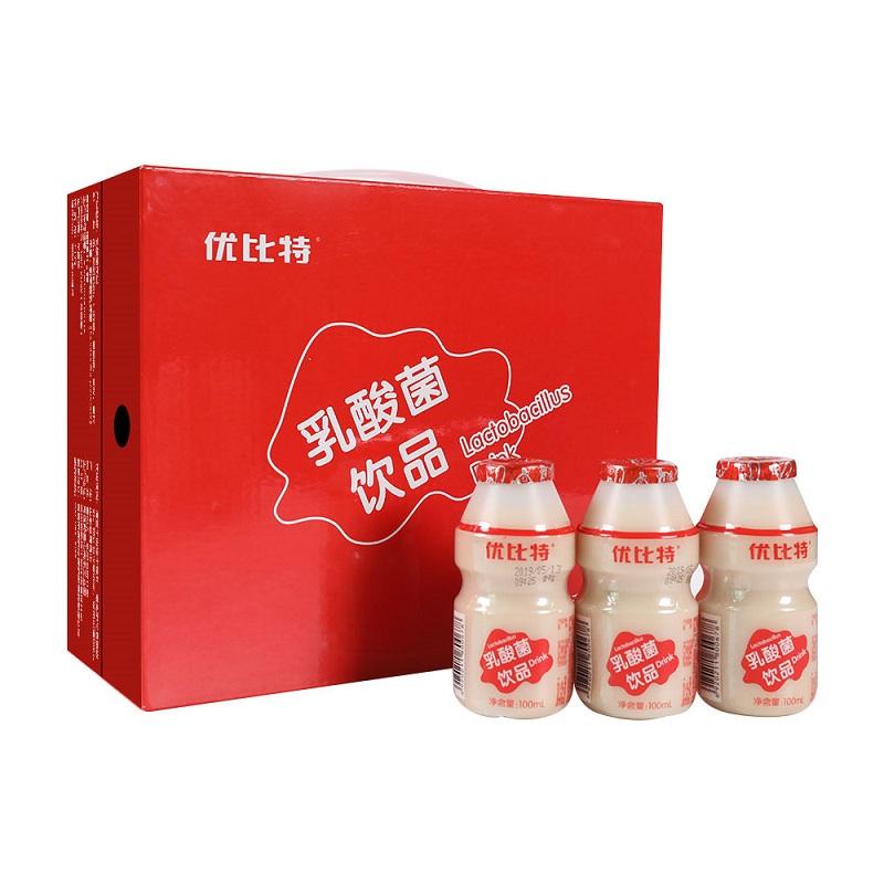 优比特乳酸菌饮料整箱100ml*20瓶 儿童酸奶饮品早餐奶牛奶益生菌12月02日最新优惠