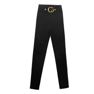 黑色铅笔裤春夏魔术高腰显瘦打底裤