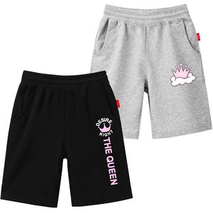 南極人女童短褲外穿百搭女大童五分褲洋氣寬鬆女童馬褲外穿夏天潮