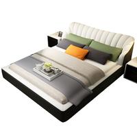 正顾家真皮床现代简约卧室家居双人床1.8米婚床韩式皮艺床软床