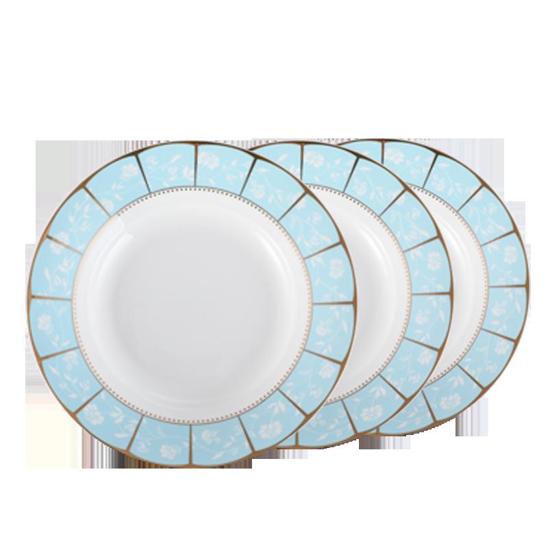 景德镇陶瓷盘子菜盘菜碟子家用饭碗创意骨碟鱼盘欧式餐具套装果盘