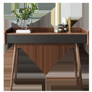 北歐翻蓋式梳妝枱卧室小户型網紅ins風現代簡約收納化妝書桌一體