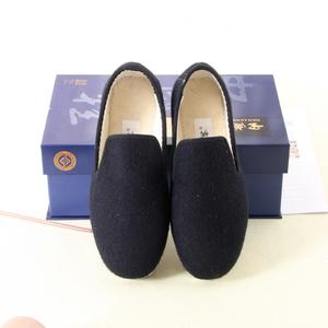 内联升男女情侣冬季兰呢子手工棉鞋