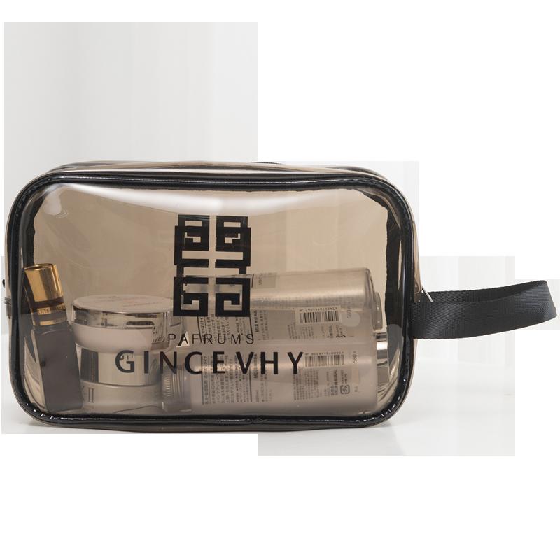 网红化妆包透明洗澡袋旅行ins风超火女便携大容量防水收纳洗漱包