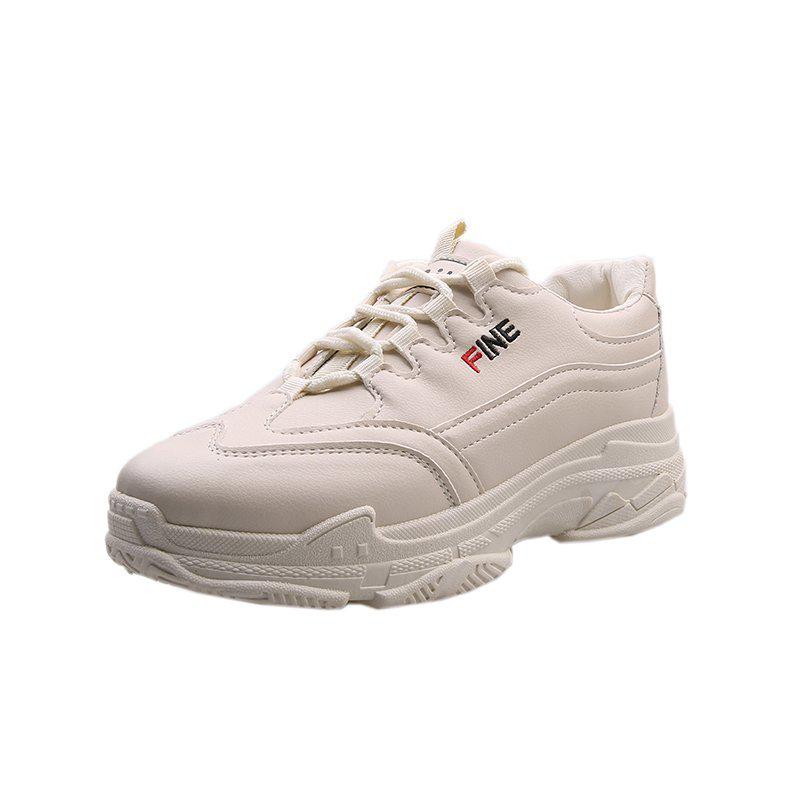 运动板鞋多功能减震防滑增高老爹鞋小白鞋