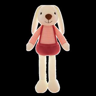 可愛長耳兔子公仔一對毛絨玩具布娃娃玩偶兒童抱枕睡覺小白兔女孩