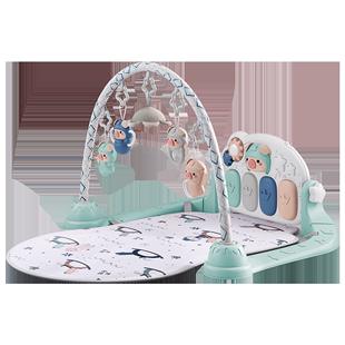 貝易腳踏鋼琴嬰兒健身架器寶寶新生兒3個月兒童0-1歲益智音樂玩具