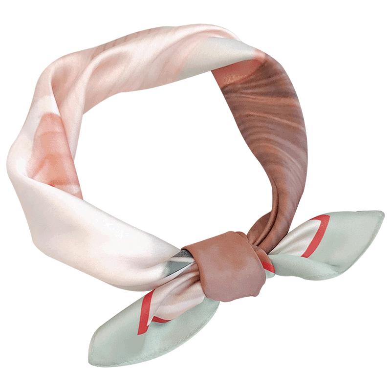 原创日系卡通小方巾百搭女学生春秋季气质小丝巾脖子装饰小领巾