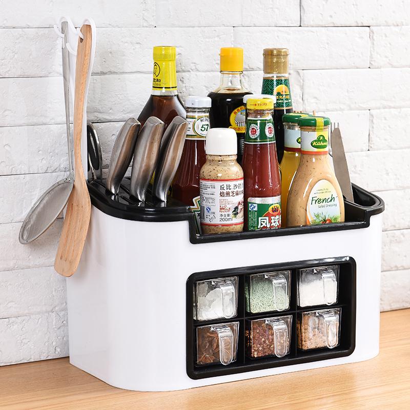 糖罐厨房调味料调置物架用具配料转角罐欧式层架创意收纳盒餐饮。