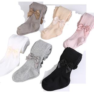 宝宝春秋女童打底裤薄款纯棉外穿冬儿童连裤袜长筒连体婴儿舞蹈袜
