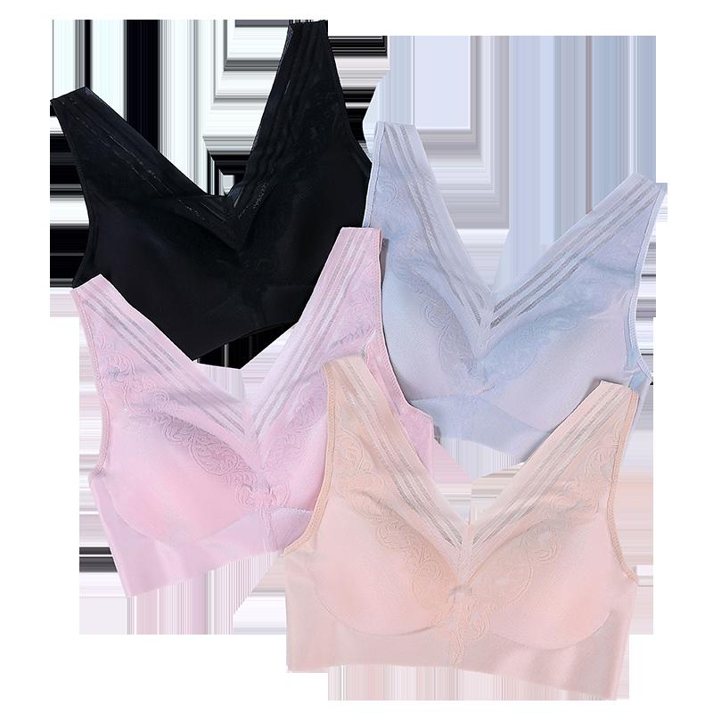 【紫速】韩国无钢圈背心带胸垫运动内衣