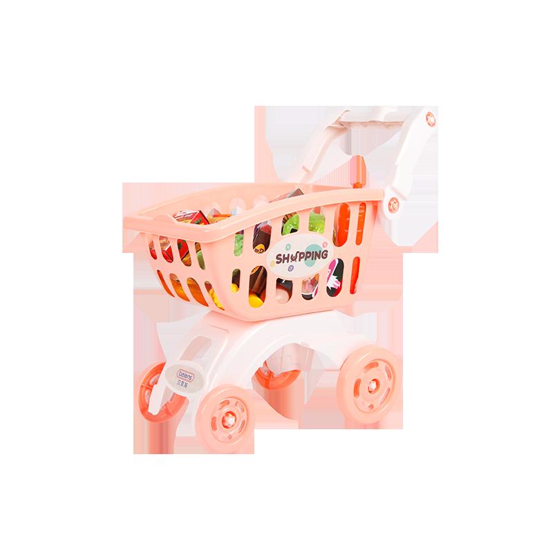 贝恩施儿童购物车玩具女孩 超市小推车过家家玩具宝宝手推车3-6岁