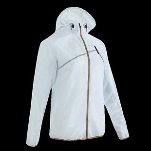 迪卡儂運動皮膚衣女秋季休閒長袖風衣輕薄跑步防風外套夾克 RUNT