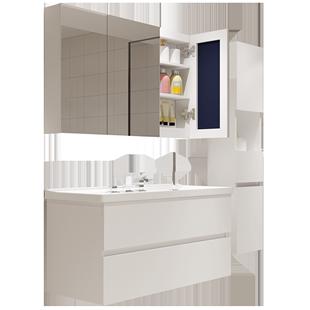 北歐智能簡約現代浴室櫃組合衞生間洗漱台衞浴櫃洗手盆洗臉盆櫃