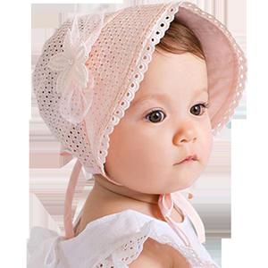 婴幼儿春夏0-3-6-12个宫廷公主盆帽