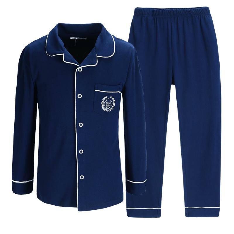 南极人睡衣男士纯棉春夏季青年长短袖大码全棉薄款休闲家居服套装