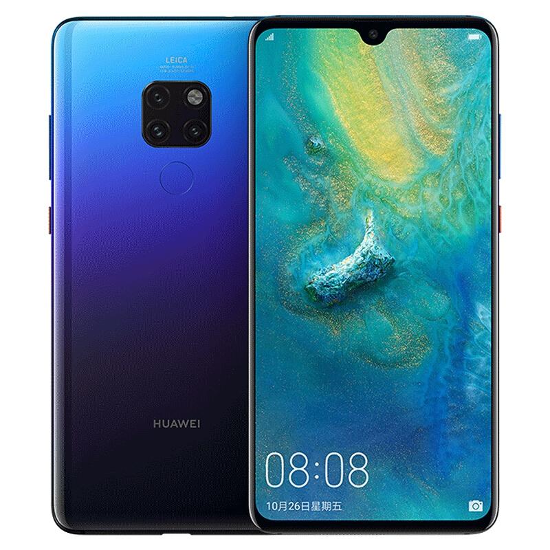 【直降700】Huawei/华为mate20全面屏超大广角徕卡三摄麒麟980芯片4G全网通智能手机Mate 20
