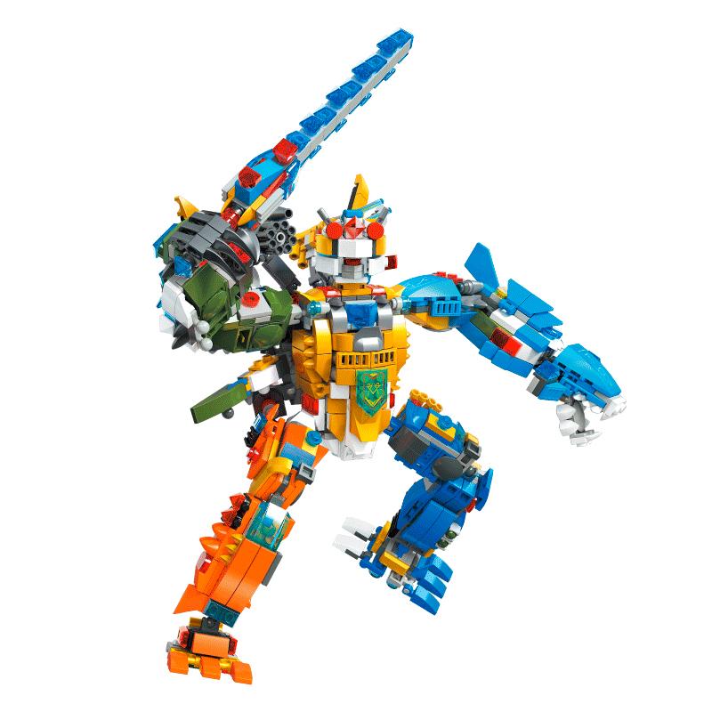 杰星十二星座玩具男孩子12岁女孩变形机器人颗粒积木拼装玩具益智