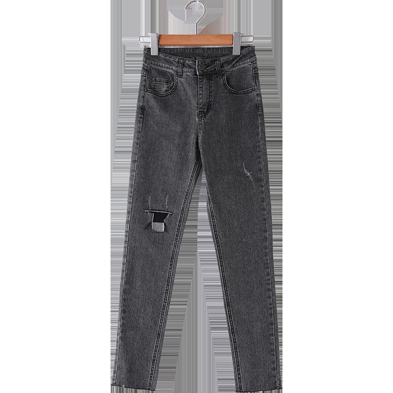 新款牛仔裤高腰显瘦小脚铅笔裤